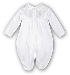Sarah-Louise-7022P-Baby-Boy-Long-Sleeve-White-Romper